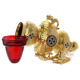 Lampada Ortodossa ottone dorato cm 26X17 s5