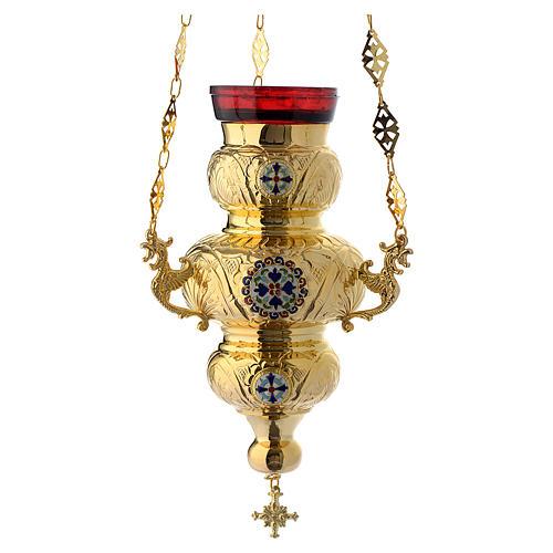 Lampada Ortodossa ottone dorato cm 26X17 1