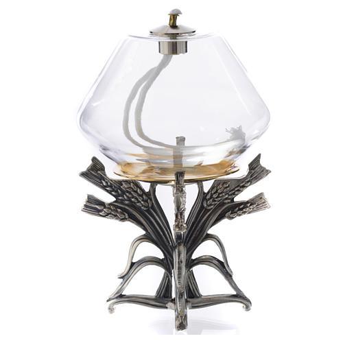 Lámpara cera líquida con base de peltre 4