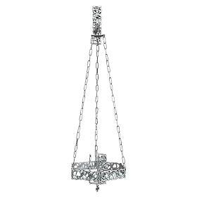 Lámpara en suspensión Santísimo latón fundido plateado s1