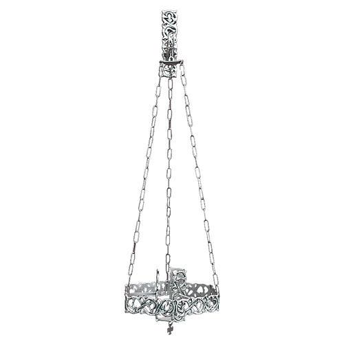 Lámpara en suspensión Santísimo latón fundido plateado 1