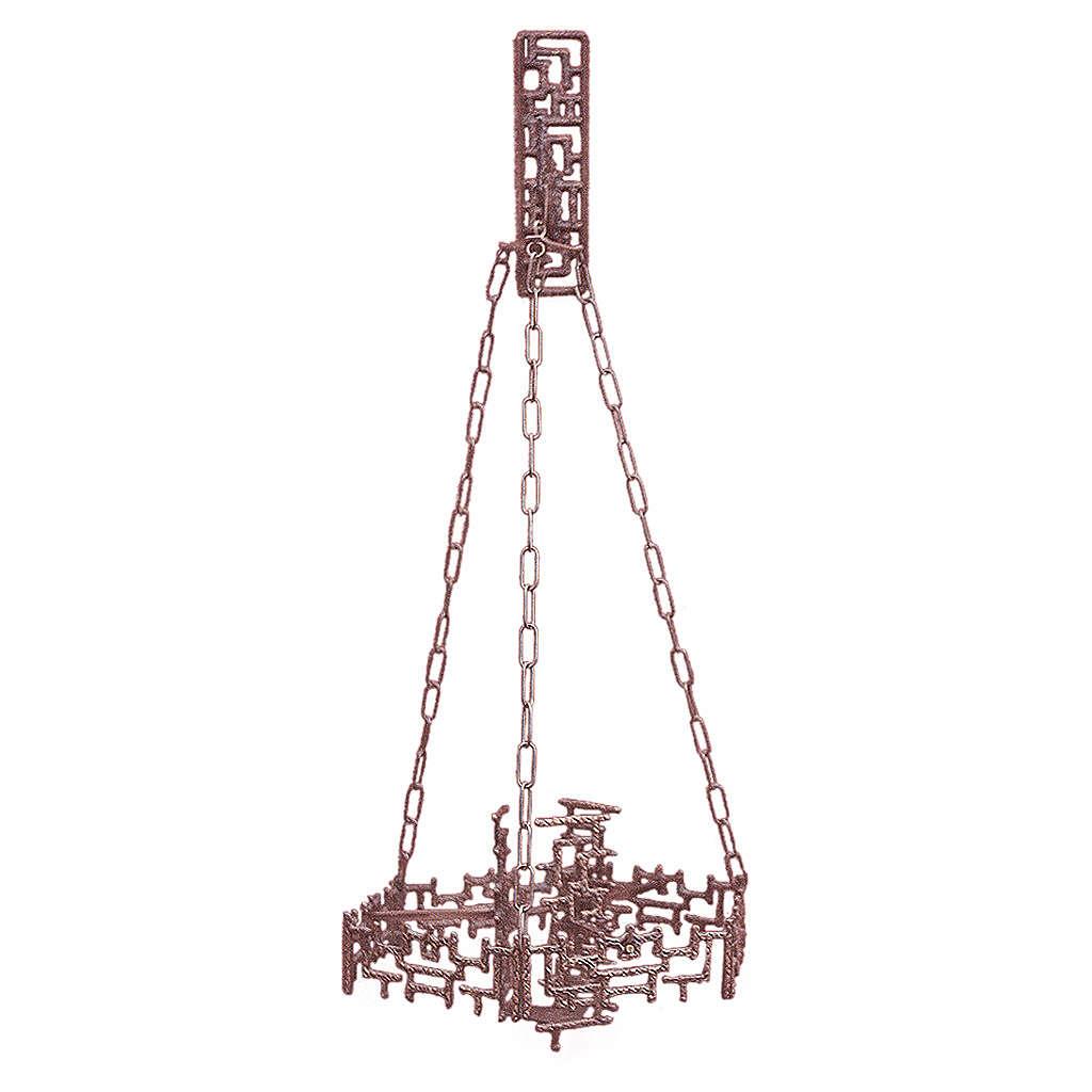 Lámpara en suspensión Santísimo latón fundido cobre 3