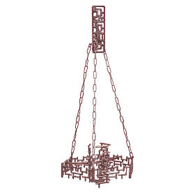 Lámpara en suspensión Santísimo latón fundido cobre s1