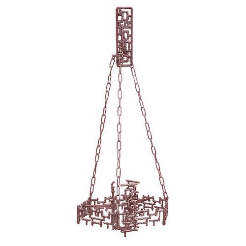 Lámpara en suspensión Santísimo latón fundido cobre 1