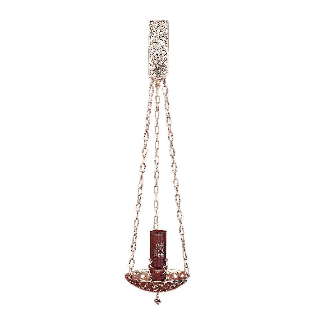Lámpara en suspensión Santísimo latón dorado 30 cm 3