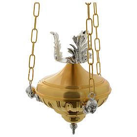 Lámpara en suspensión Santísimo 20 cm latón ángeles s1