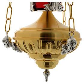 Lampada a sospensione Santissimo 20 cm ottone angeli s5