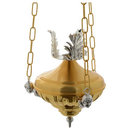 Lampada a sospensione Santissimo 20 cm ottone angeli 1
