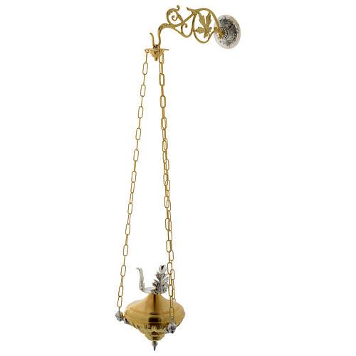 Lampada a sospensione Santissimo 20 cm ottone angeli 2