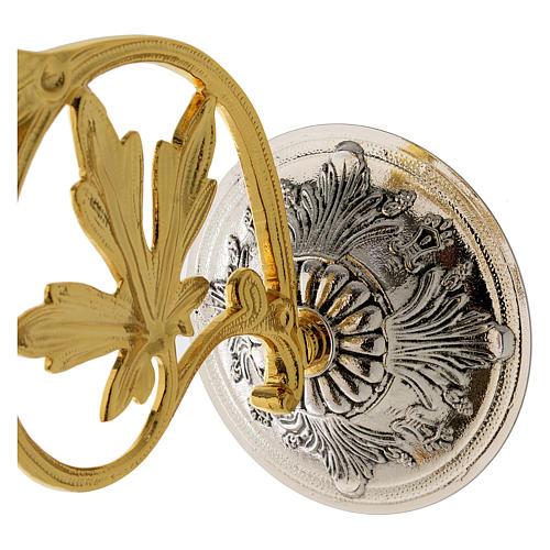 Lampada a sospensione Santissimo 20 cm ottone angeli 7