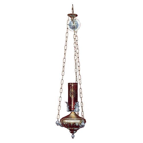 Lampe à suspendre Sanctuaire 14 cm laiton anges 1