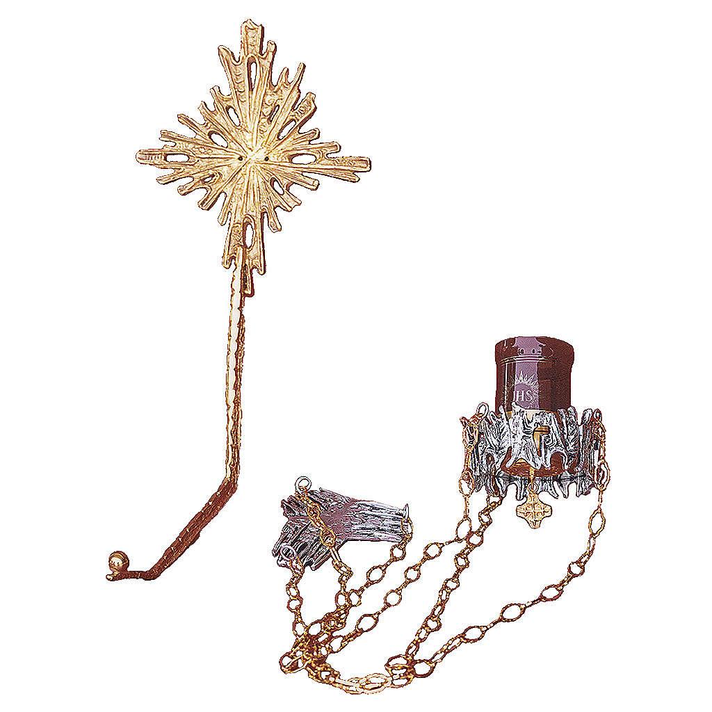 Lámpara en suspensión latón fundido dorado plateado 3