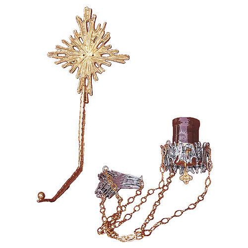 Lámpara en suspensión latón fundido dorado plateado 1