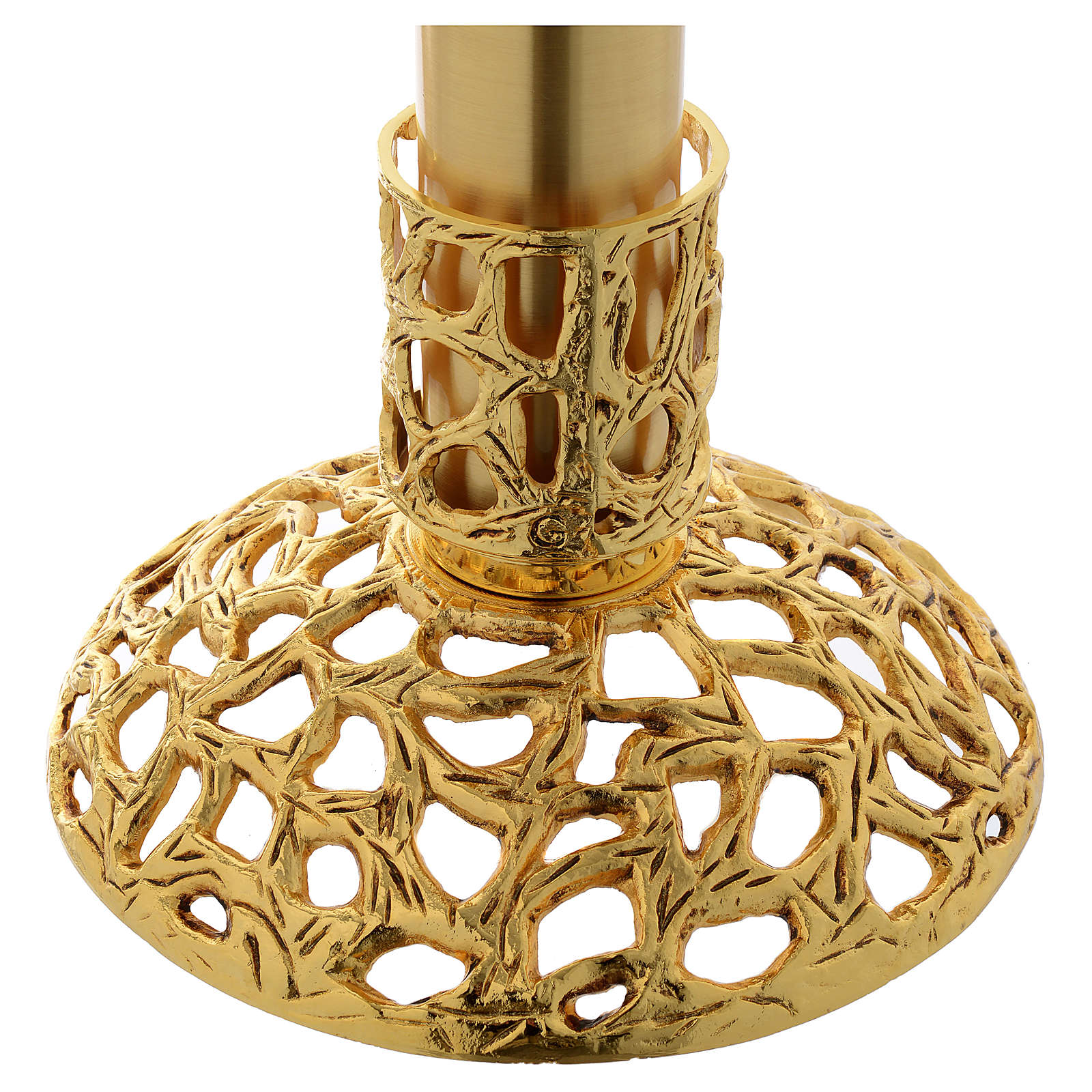 Blessed Sacrament Lamp in gold plated brass 3