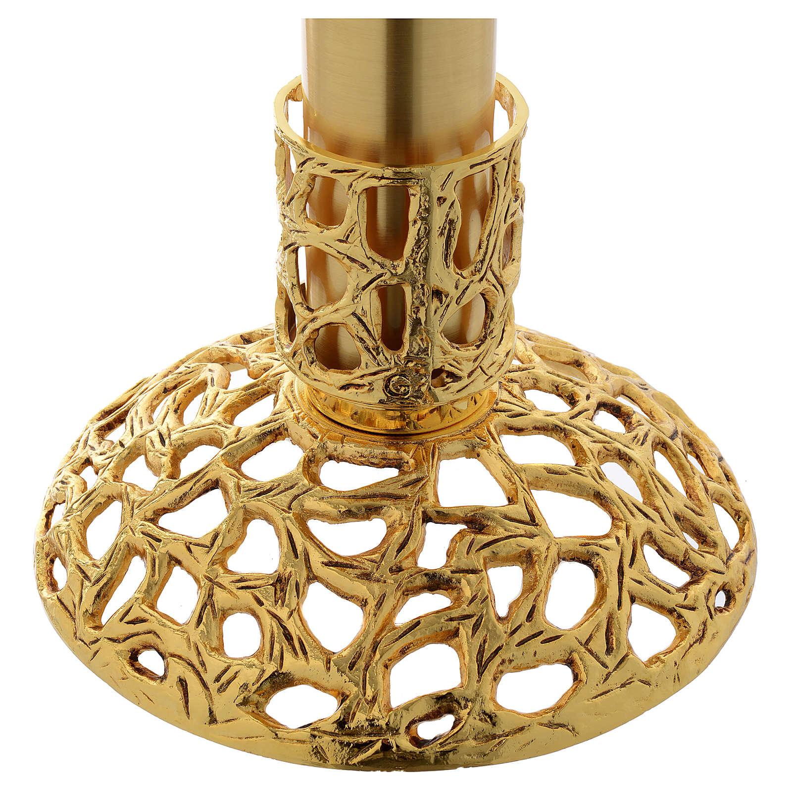 Lámpara para el Santísimo 110 cm latón dorado 3