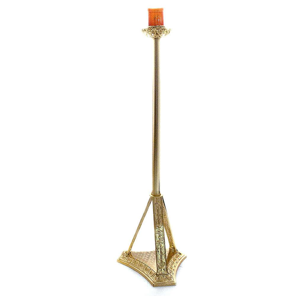 Lampada Santissimo a stelo ottone fuso 110 cm 3
