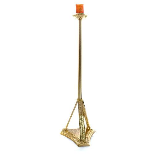 Lampada Santissimo a stelo ottone fuso 110 cm 1
