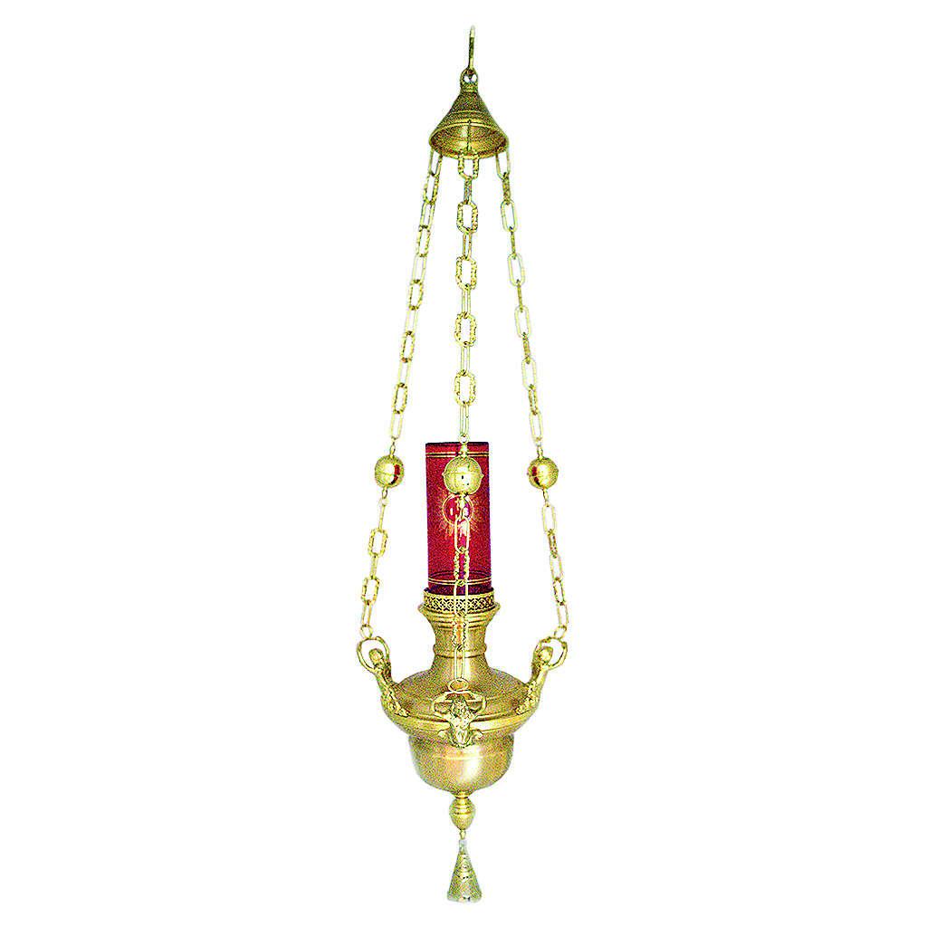 Lámpara en suspensión de latón fundido dorado 3