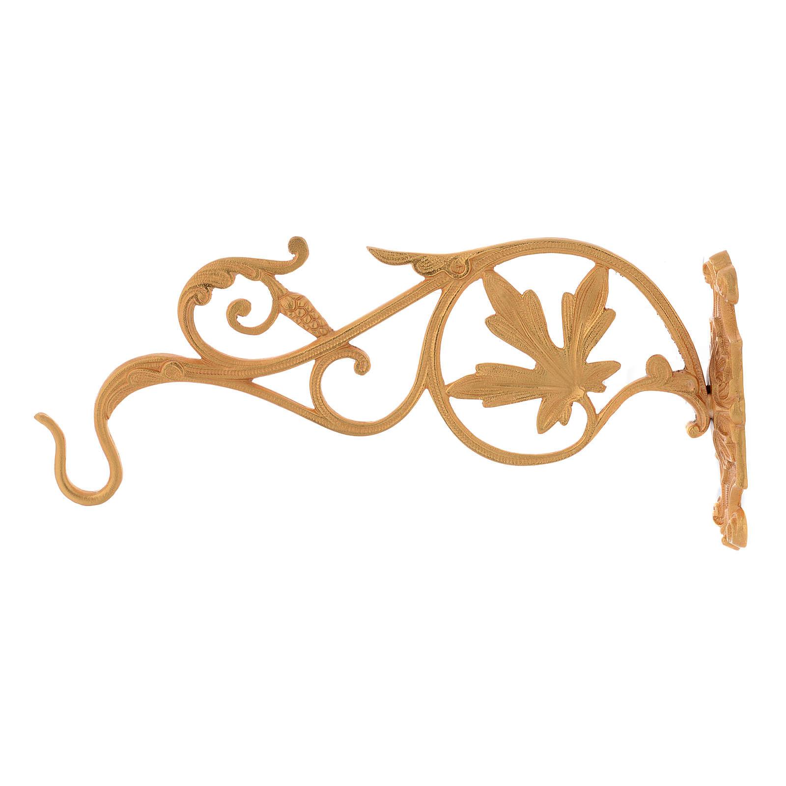 Brazo dorado con hojas para lámpara Santísimo cadena 3