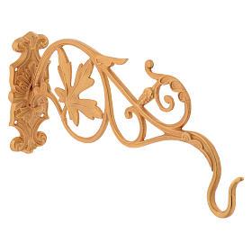 Brazo dorado con hojas para lámpara Santísimo cadena s3