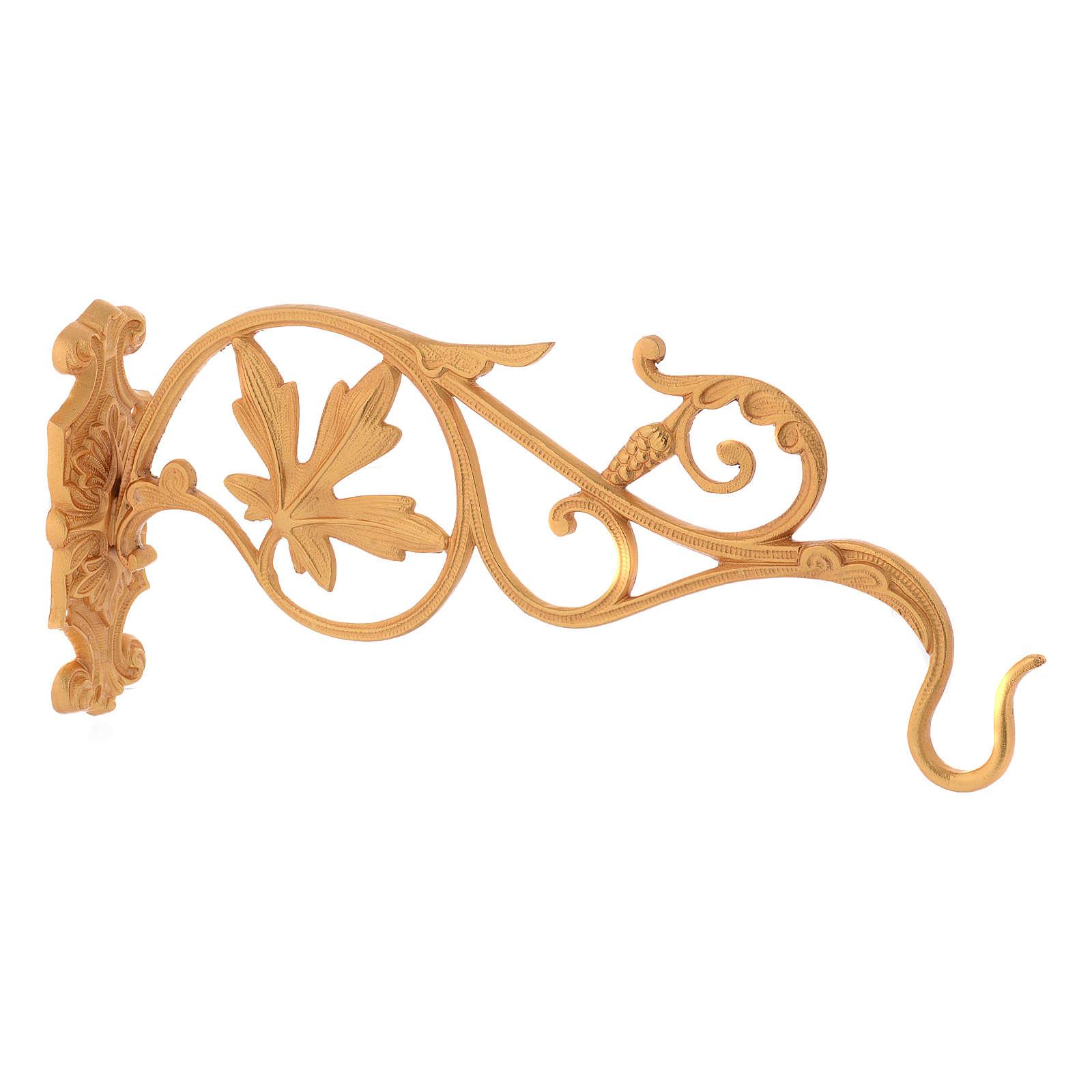 Braccio dorato con foglie per lampada Santissimo a catena 3
