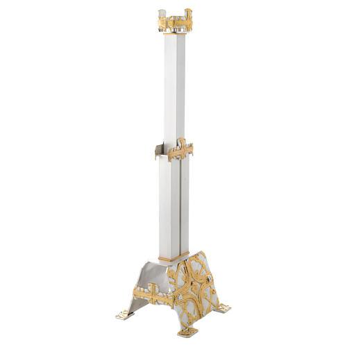 Lámpara Santísimo de pie latón cruz estilizada 3