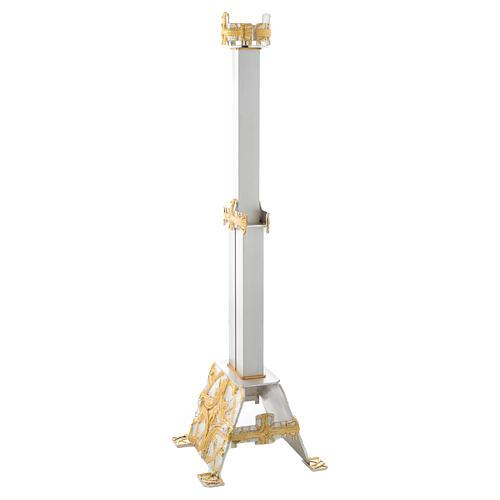 Lampada Santissimo a stelo ottone croce stilizzata 2