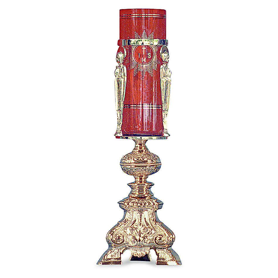 Lampada per tabernacolo ottone fuso dorato h 38 cm 3