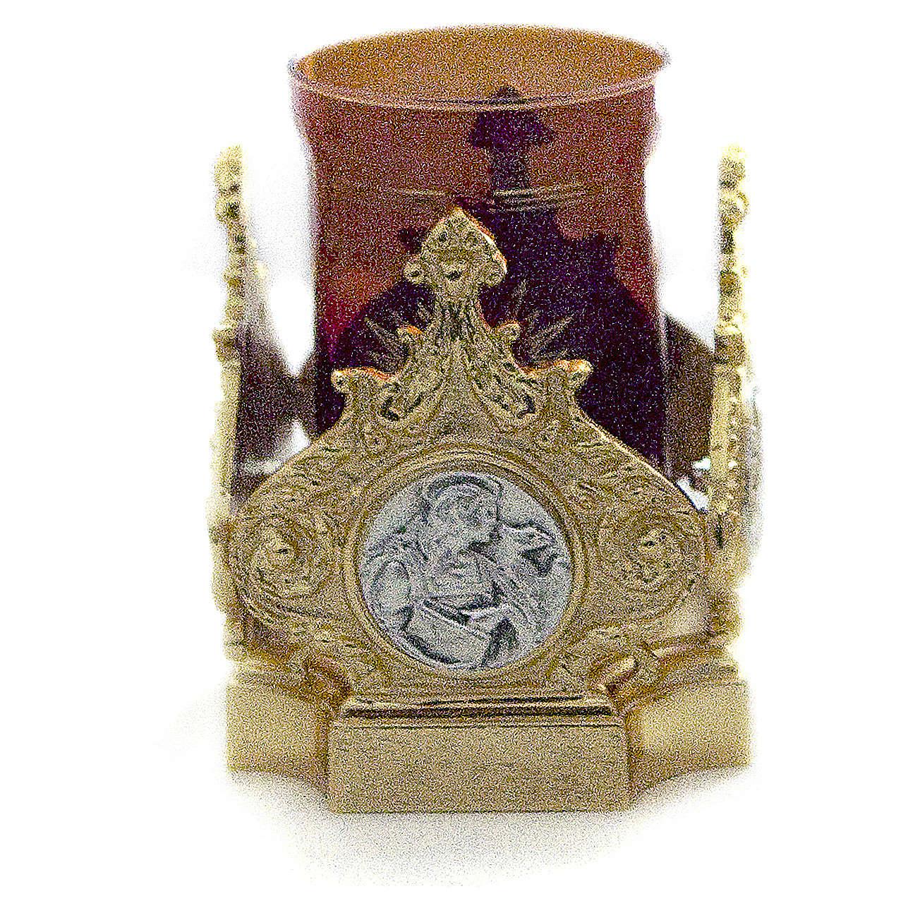 Lampada Santissimo ottone fuso dorato 11x11 cm 3