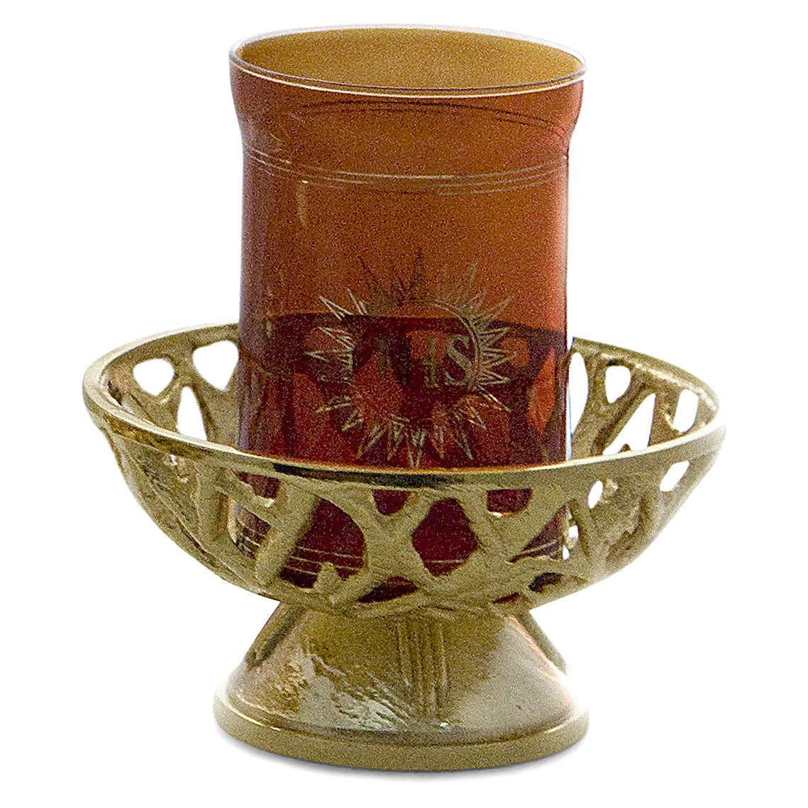 Lampada Santissimo ottone fuso h 8 cm x 14 cm 3