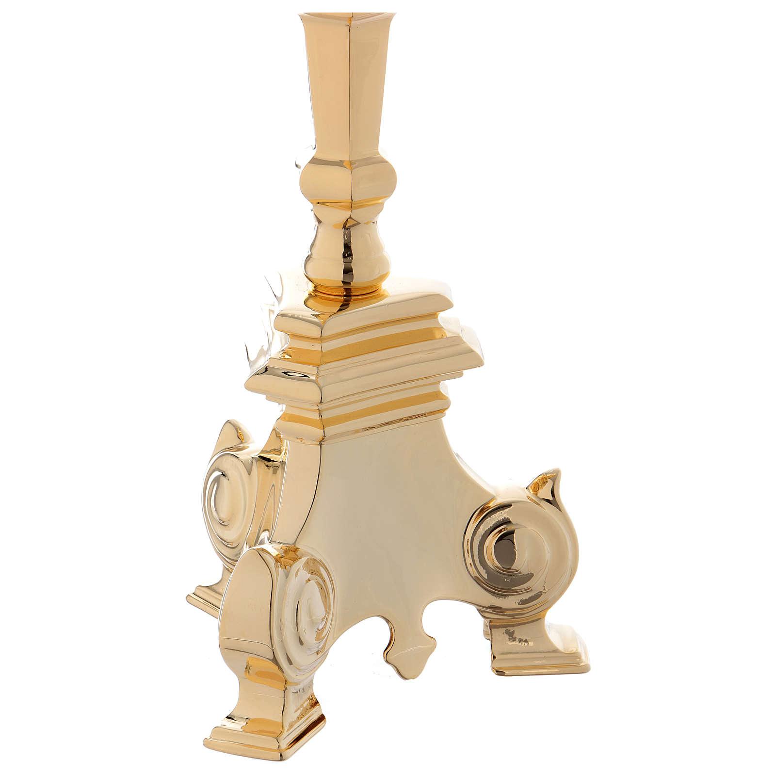 Candelero barroco dorado para el Santísimo Sacramento cm 110 3