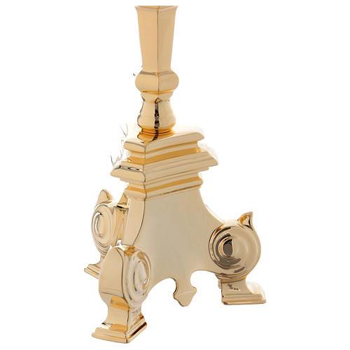 Candelero barroco dorado para el Santísimo Sacramento cm 110 4