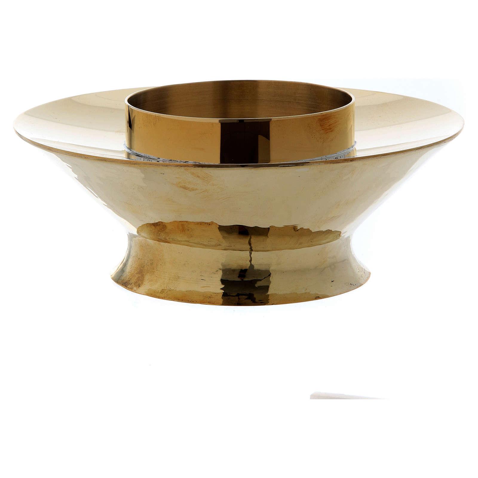 Lampka eucharystyczna do Najświętszego Sakramentu model Vitrum mosiądz szkło 3