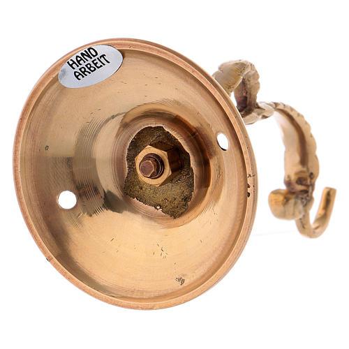 Braccio lampada per Santissimo in ottone dorato 3