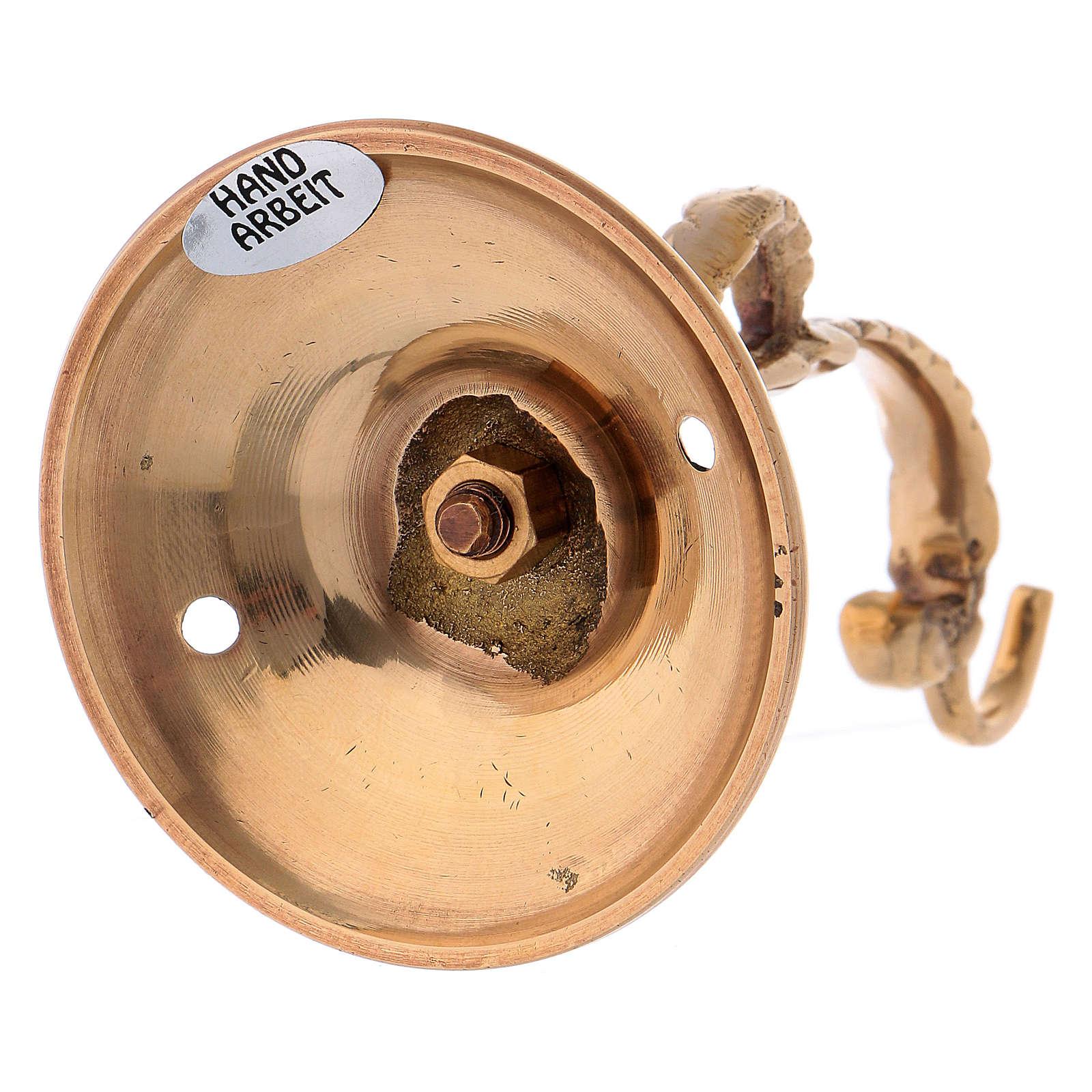 Braço lamparina par o Santíssimo em latão dourado 3