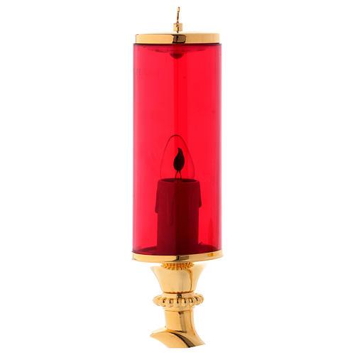 Applique a muro completa vetro rosso elettrica 3