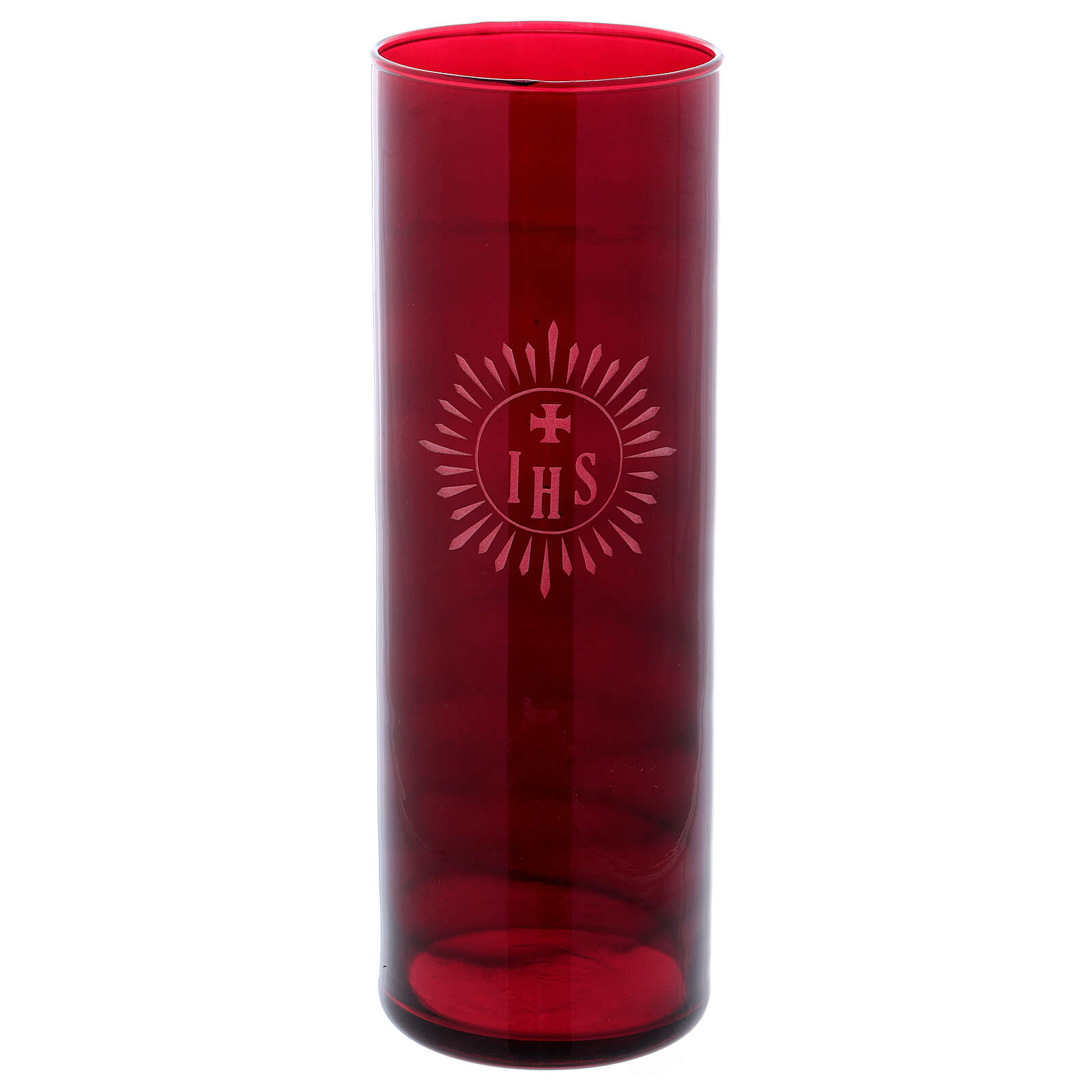 Porta círio copo vermelho IHS 3