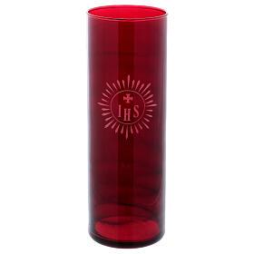 Porta círio copo vermelho IHS s1