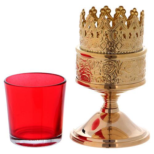 Lampada per il santissimo sacramento con base ottone dorato 3