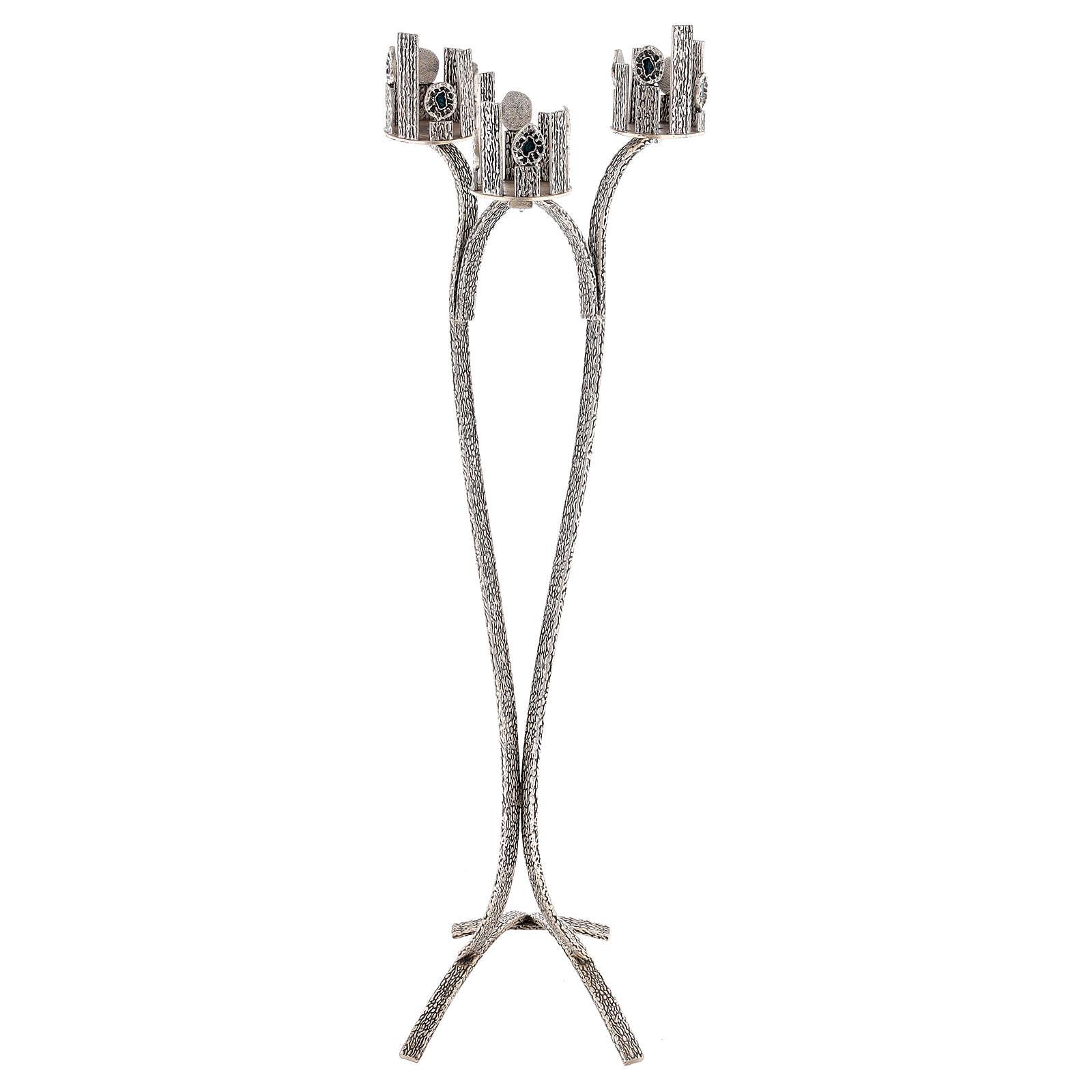 Lámpara para el Santísimo con 3 bases cirios h. 110 cm 4