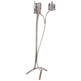 Lampada per Santissimo con 3 porta ceri h. 110 cm s3