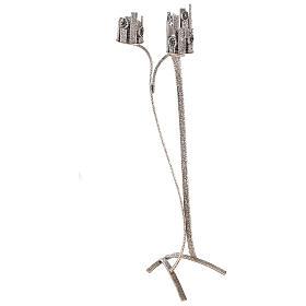 Lampada per Santissimo con 3 porta ceri h. 110 cm s5