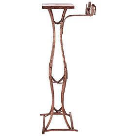 Colonna tabernacolo con braccio porta cero h. 140 cm s1