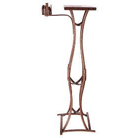 Colonna tabernacolo con braccio porta cero h. 140 cm s5