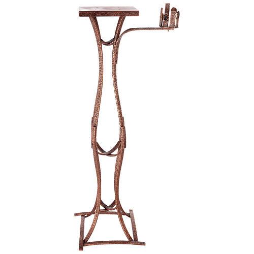 Colonna tabernacolo con braccio porta cero h. 140 cm 1