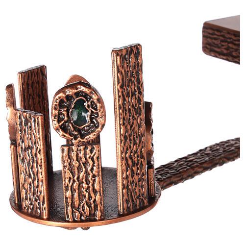 Colonna tabernacolo con braccio porta cero h. 140 cm 2
