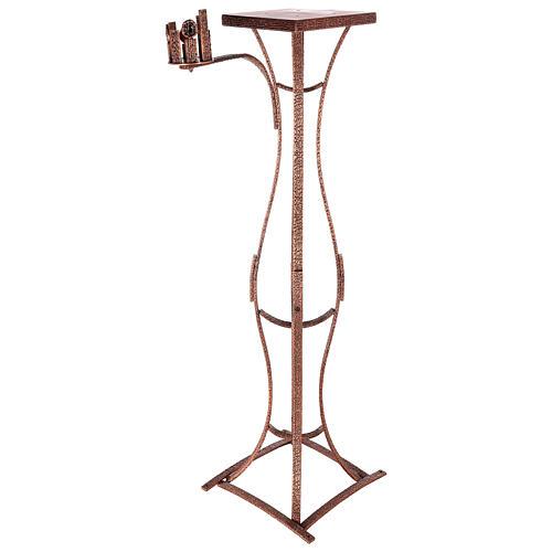 Colonna tabernacolo con braccio porta cero h. 140 cm 4