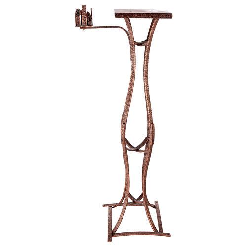 Colonna tabernacolo con braccio porta cero h. 140 cm 5