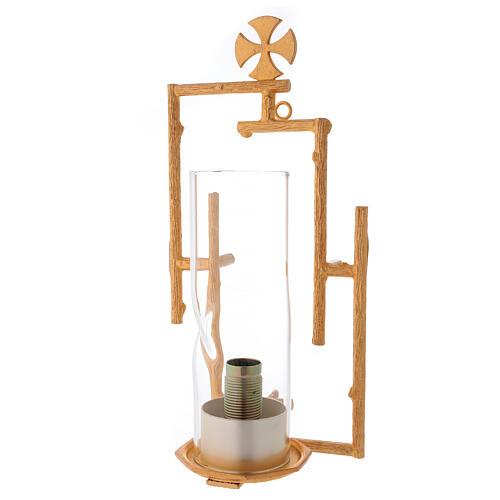 Lámpara de pared de latón fundido con vidrio 1