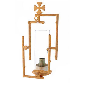 Sanctuary wall lamp in cast brass and glass s3